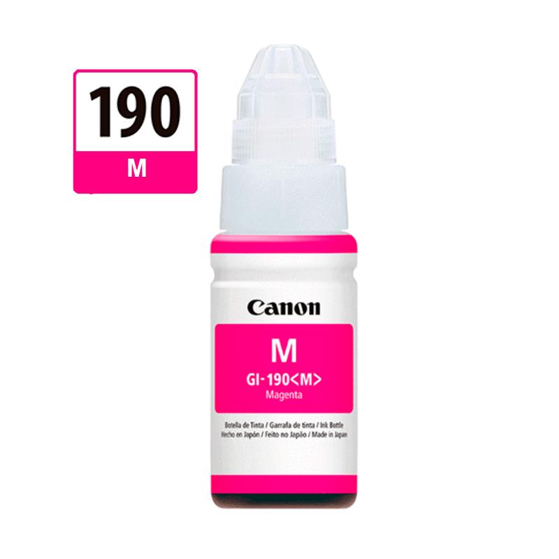 TINTA CANON PIXMA 190 MAGENTA 70ML GI190