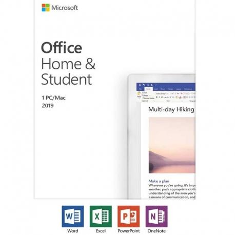 LICENCIA DE MICROSOFT OFFICE HOGAR Y ESTUDIANTE 1 PC / Mac (ESD) 2019 no transferible