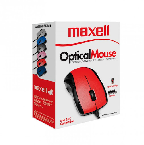 MOUSE USB MAXELL MOWR-101R 347286 RED