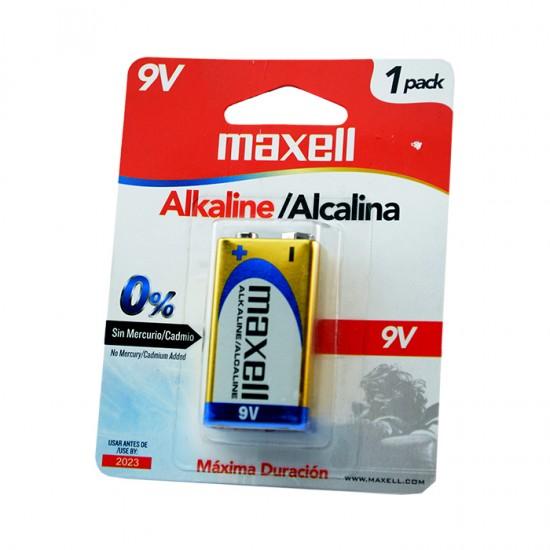 BATERIA ALKALINA MAXELL 9V 721110 6LF22