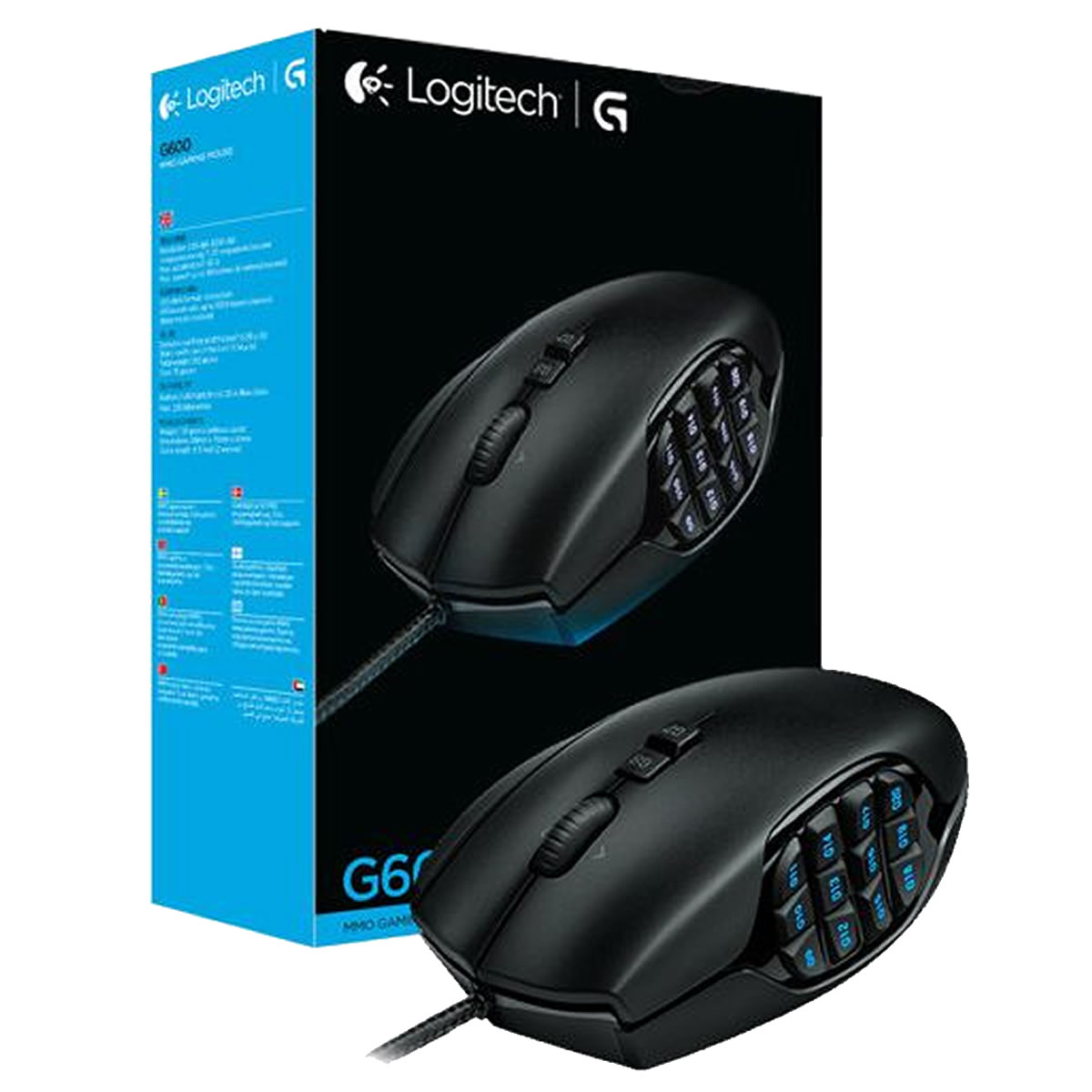 MOUSE LOGITECH G600 20 BOTONES PROG. 8200DPI