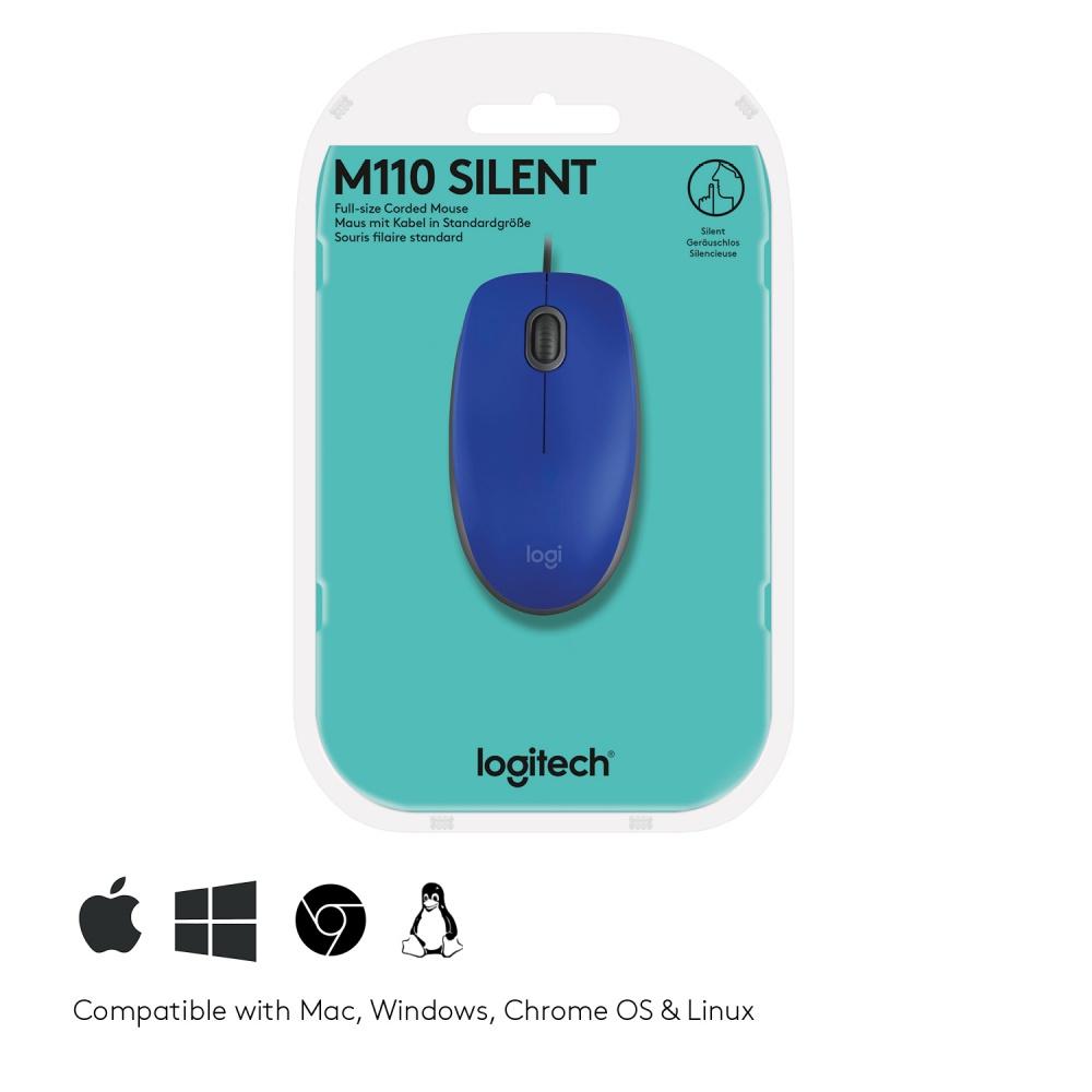 MOUSE USB LOGITECH M110 AZUL 910-005491