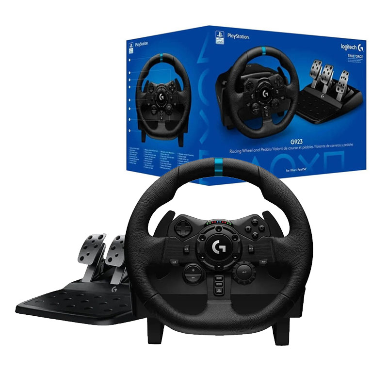 KIT TIMON Y PEDALES DRIVING FORCE LOGITECH G923  PC y PS4