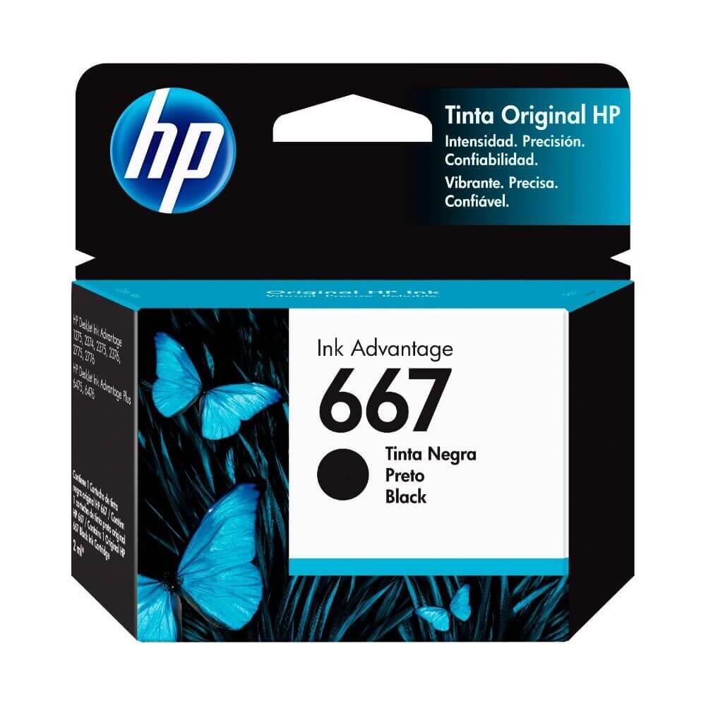 CARTUCHO HP 667 NEGRO 3YM79AL 2ML