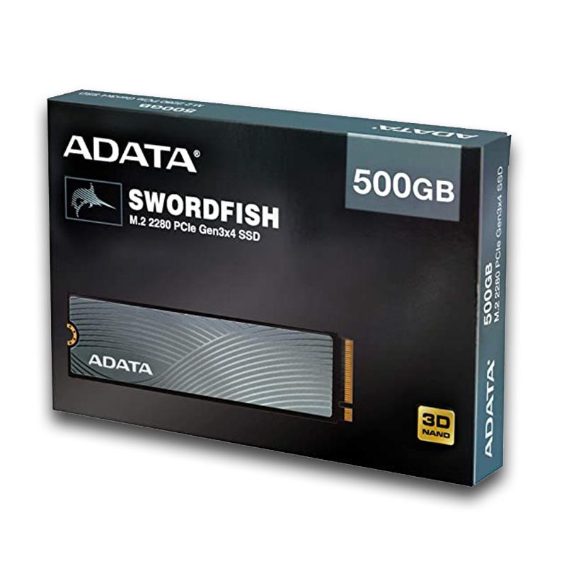 UNIDAD SSD M.2 2280 ADATA SWORDFISH 500GB PCIe X4 NVMe