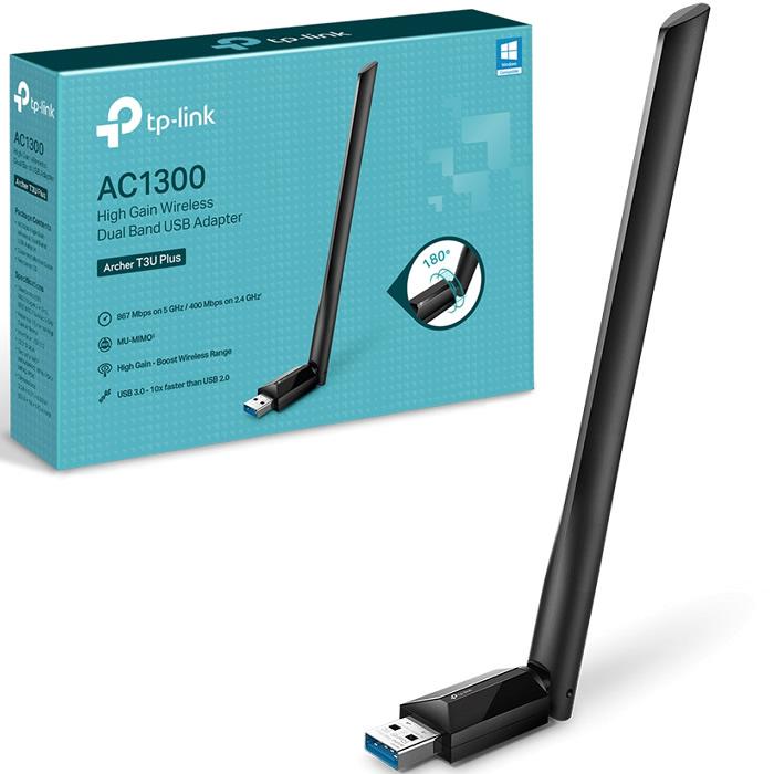 USB 3.0 WIFI CON ANTENA DUALBAND TP-LINK AC1300 ARCHER T3U PLUS
