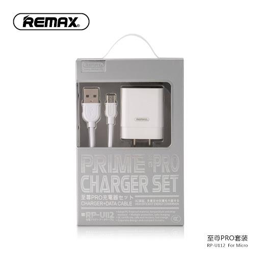 KIT CARGADOR Y CABLE USB REMAX PRIME PRO RPU112