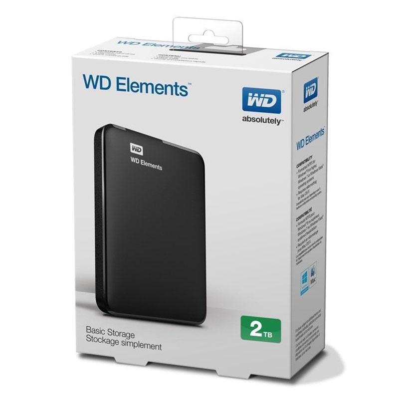 DISCO DURO EXTERNO WESTERN DIGITAL 2TB WD ELEMENT