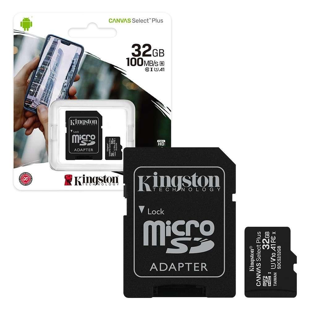 MEMORIA MICROSD KINGSTON 32GB C10  CANVAS SELECT PLUS SDCS2/32GB