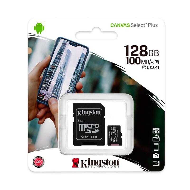 MEMORIA MICROSD KINGSTON 128GB C10  CANVAS SELECT plus