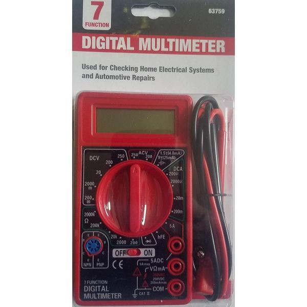 TESTER O VOLTIMETRO DIGITAL TECHMAN TM126BK 7 FUNCIONES