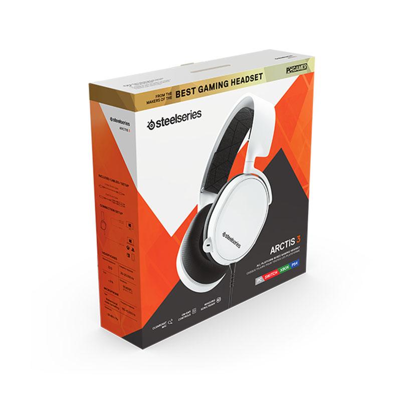 HEADSET STEELSERIES ARCTIS 3 WHITE (PC, PS4, XBOX, NSW)