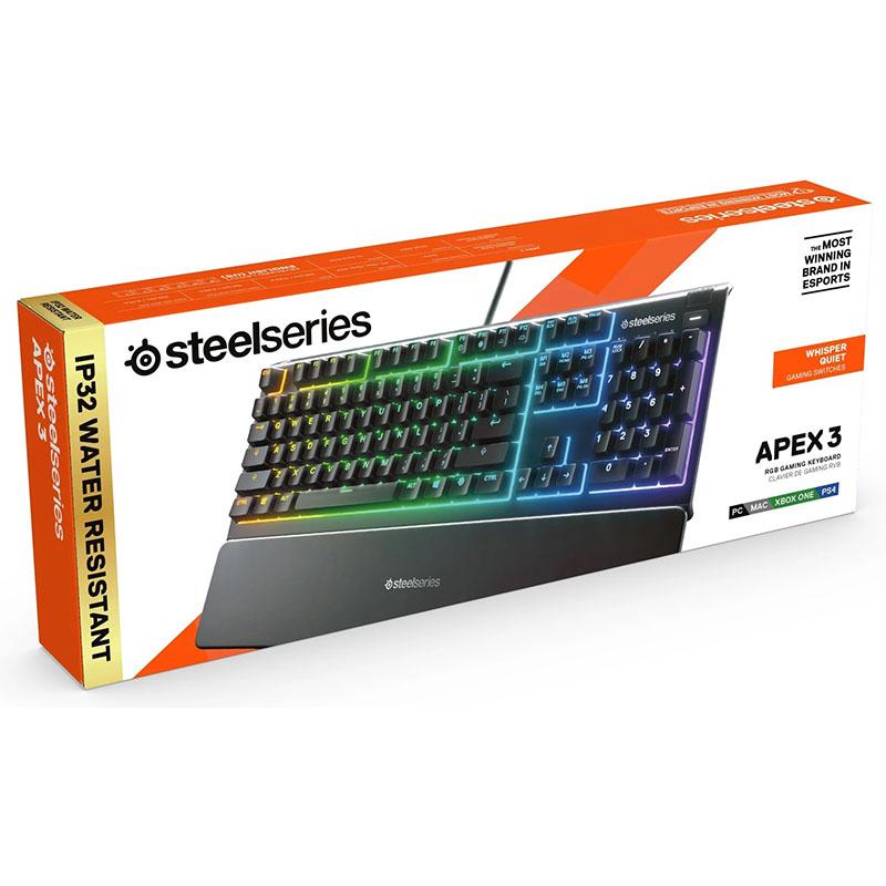 TECLADO STEELSERIES APEX 3 RGB 10 ZONAS IP32