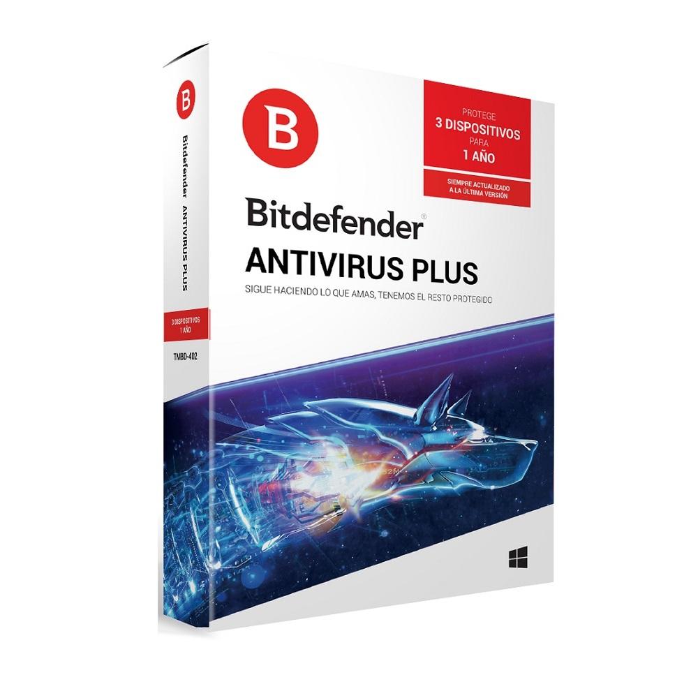 ANTIVIRUS PLUS BITDEFENDER 3 PC WINDOWS 1 AÑO