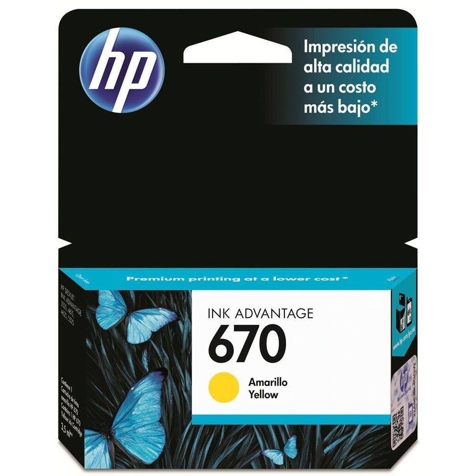 CARTUCHO HP 670 YELLOW CZ116AL INK ADVANTAGE