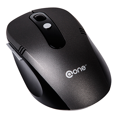 MOUSE INALAMBRICO @ONE CON BOTONES LATERALES EM202BK