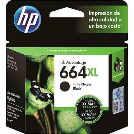 CARTUCHO HP 664XL NEGRO F6V31AL 8.5ML