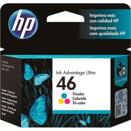 CARTUCHO HP 46 COLOR CZ638AL 16ML