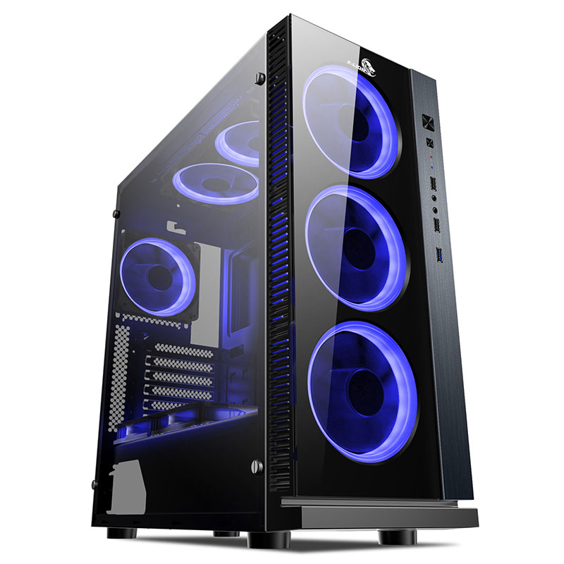 CASE X-LION HS-860 TEMPERED GLASS 3 FAN FRONTAL