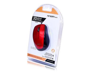 MOUSE USB ARGOM ARG-MS-0014R ROJO