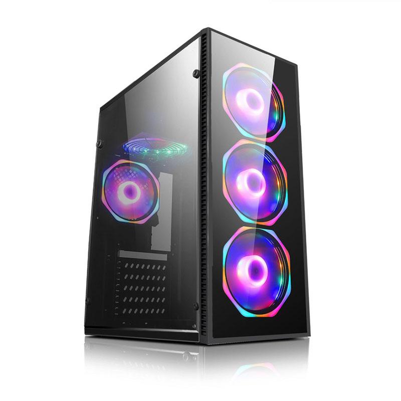 CASE X-LION ND-570 TEMPERED GLASS 3FAN RGB, NO INCLUYE PSU