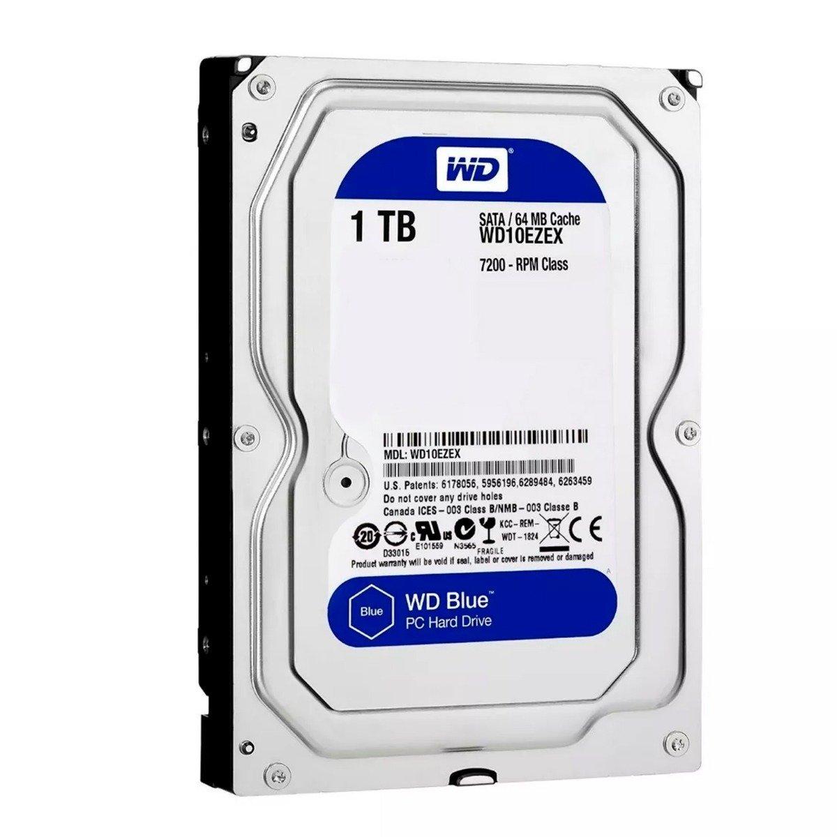 DISCO DURO DE PC WD 1TB WD10EZEX 64MB 7.2KRPM