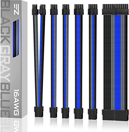 SLEEVED CABLE EXTENSION DE MOBO Y GPU A 24P + 8P + PCI 8PX2 6PX2